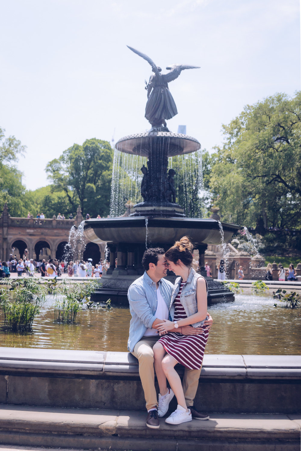 Jimena & Hector proposal in NYC by Alberto-Lama.com