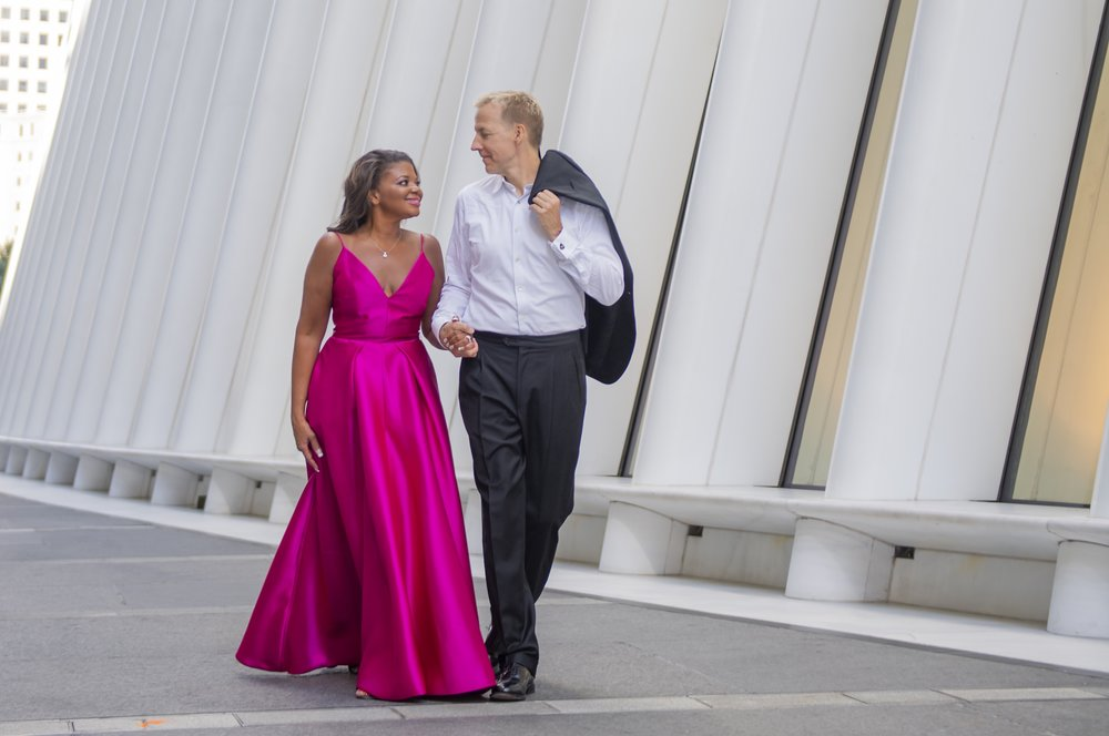 Engagement Session at The Oculus, NYC / photo by Unveiled-Weddings.com @unveiledweddings_