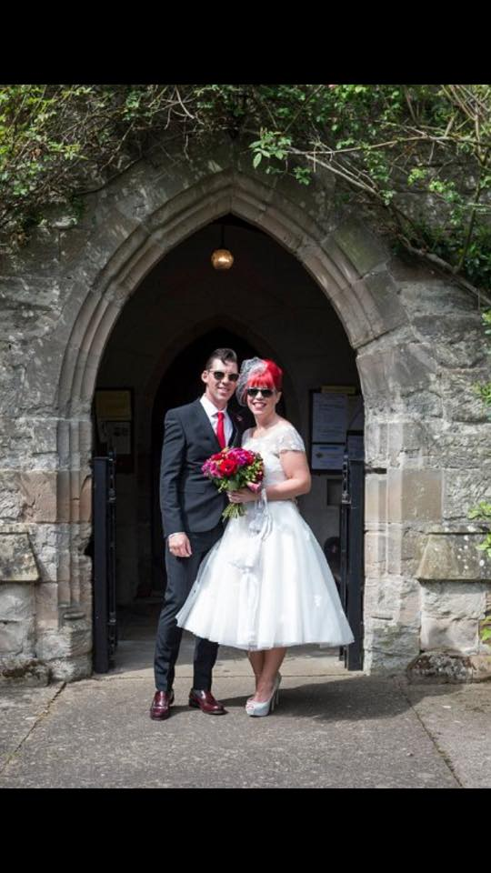 """Thank you for the alterations to my wedding dress. Which made it fit perfectly!"" - Holly"