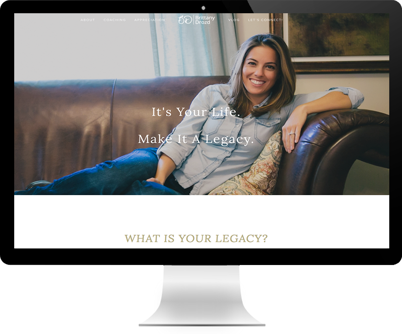 Website design for Brittany Drozd by Brightworks Studio