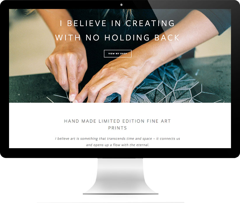 Website design for Anna Curtius by Brightworks Studio