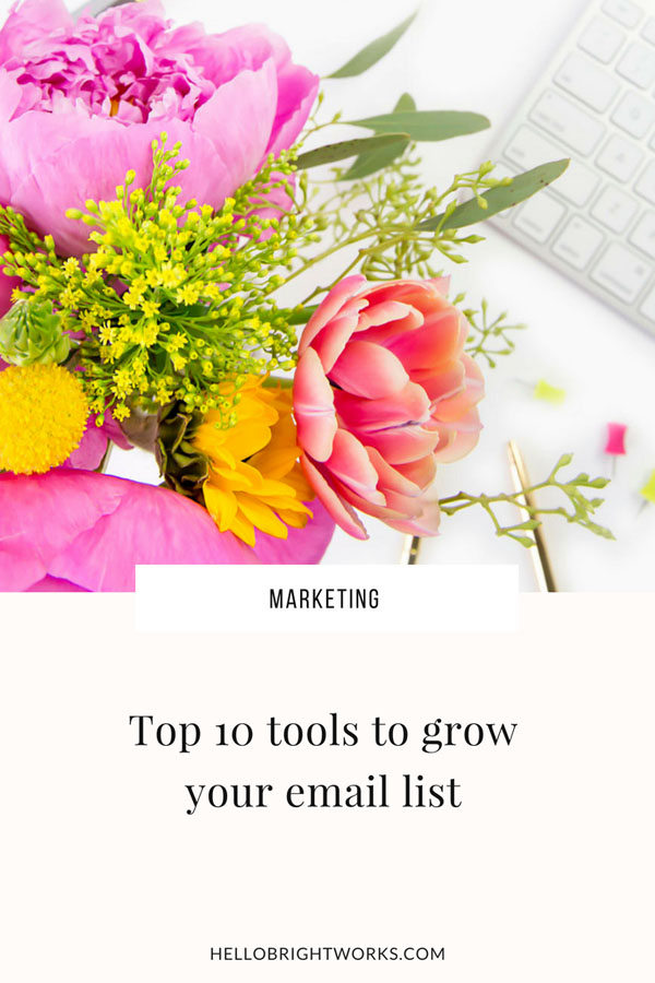 Top 10 tools to grow your email list_brightworks