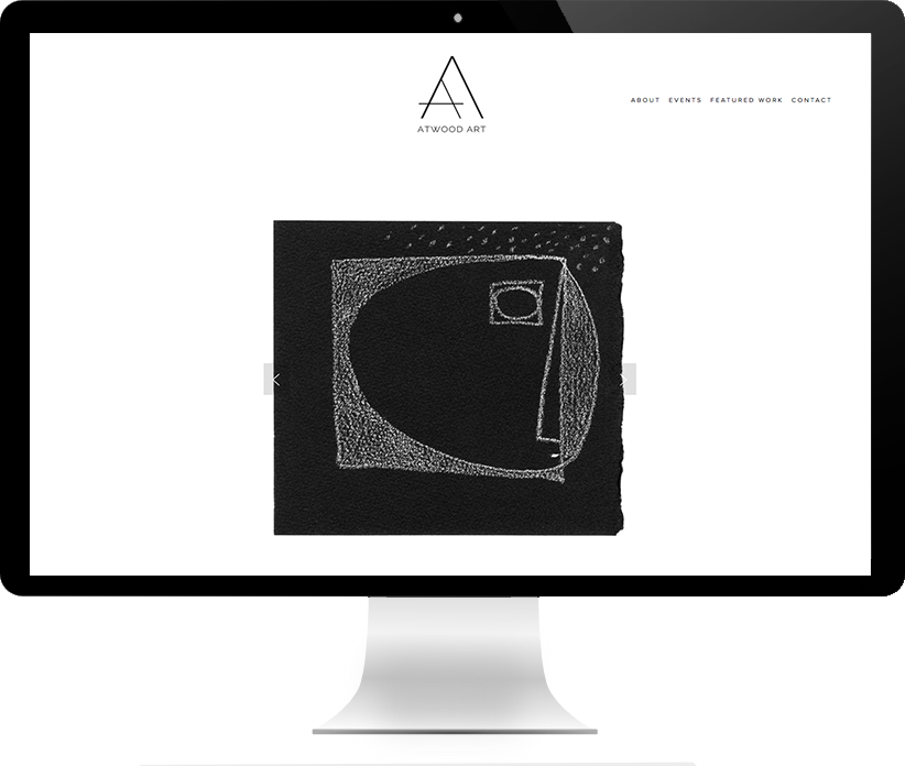 Website design for Atwood Art by Brightworks Studio