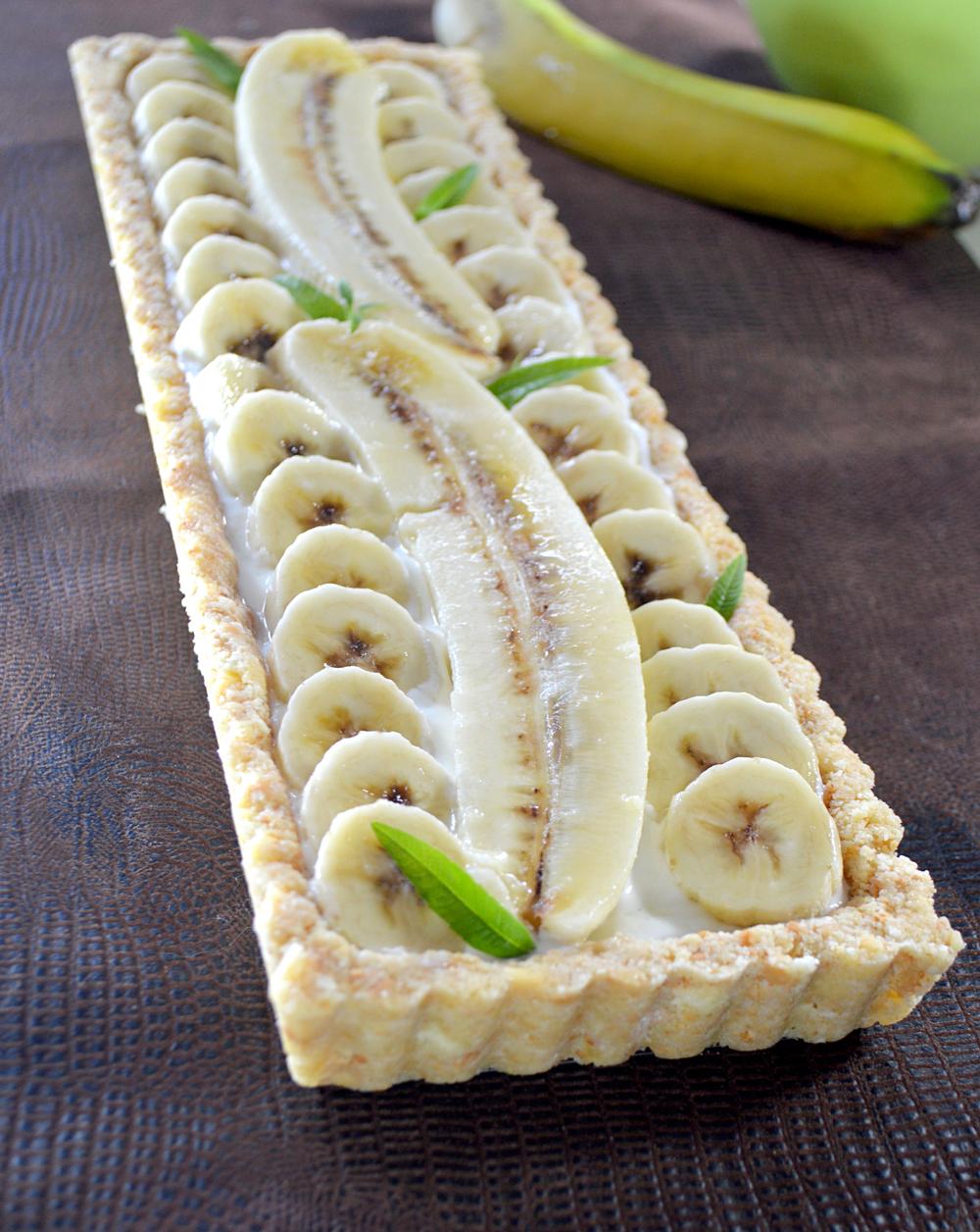 tarte banane sans cuisson demoulée.JPG