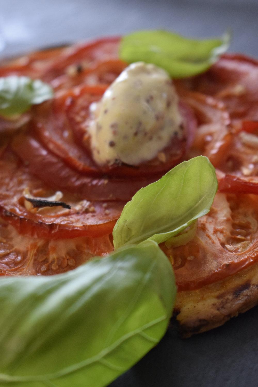 glace à la moutarde, tarte tomate