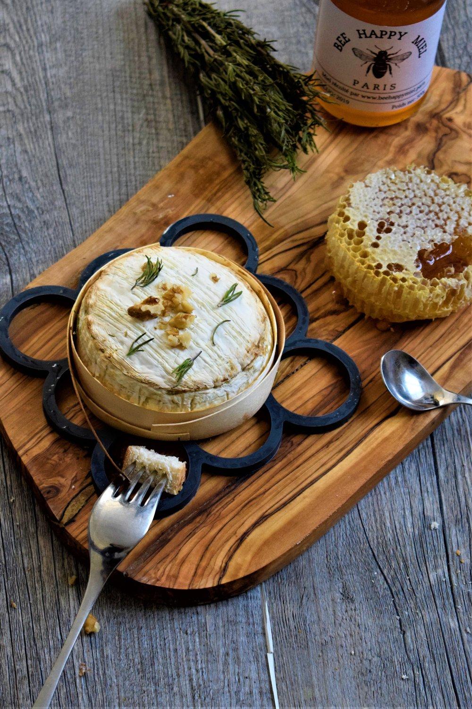 camembert roti au miel Cyril rouquet-Prévost