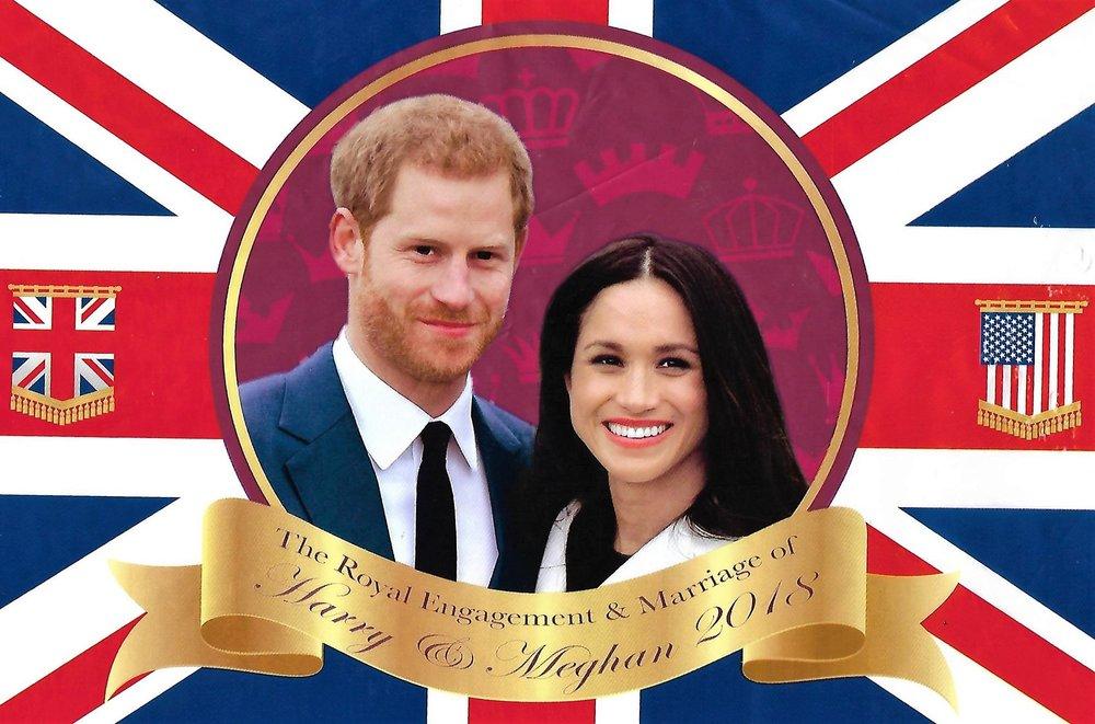 Banderole de mariage Méghan et Harry.