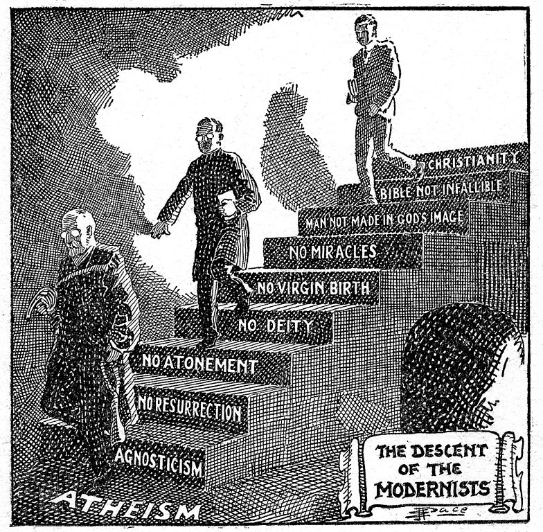""" The Descent of the Modernists "" by E.J. Pace, which first appeared in 1924."
