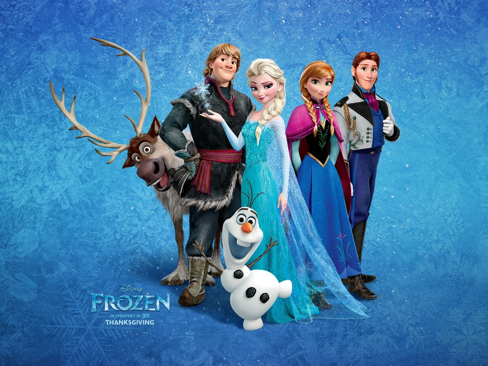 "The characters of ""Frozen."""