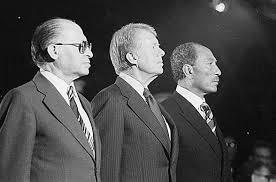 ....Célébrations des Accords du Camp David, 1978. M. Begin, J.Carter, A. el-Sadate..  Celebrations after the Camp David Accords, 1978. M. Begin, J.Carter, A. el-Sadat....