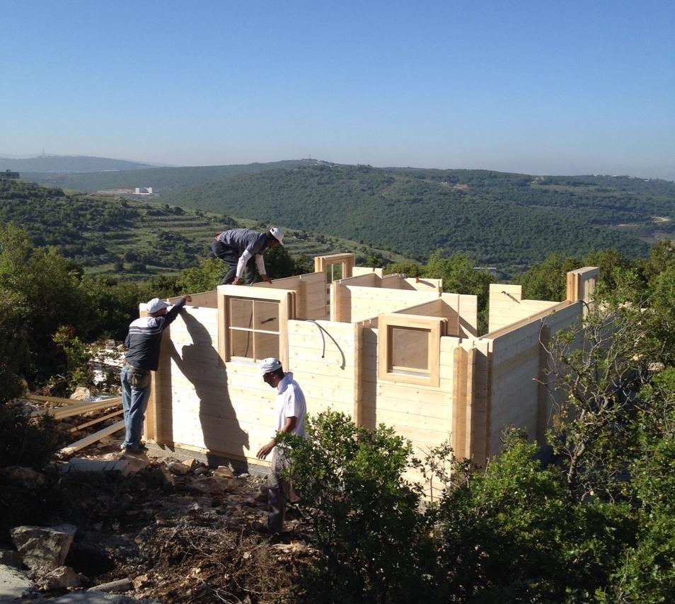 ....Construction des ermitages .. Building the hermitages ....
