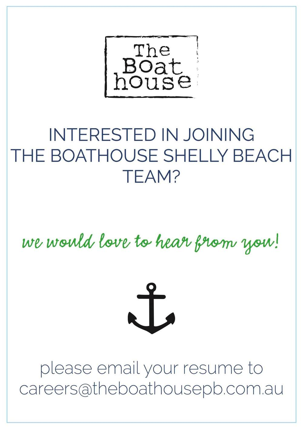 the boathouse shelly beach jobs