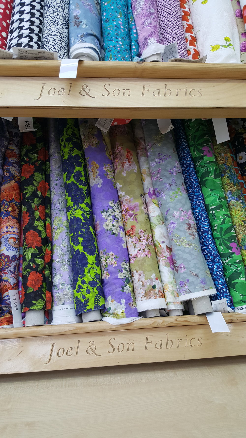 I have never seen a larger collection of print silks…