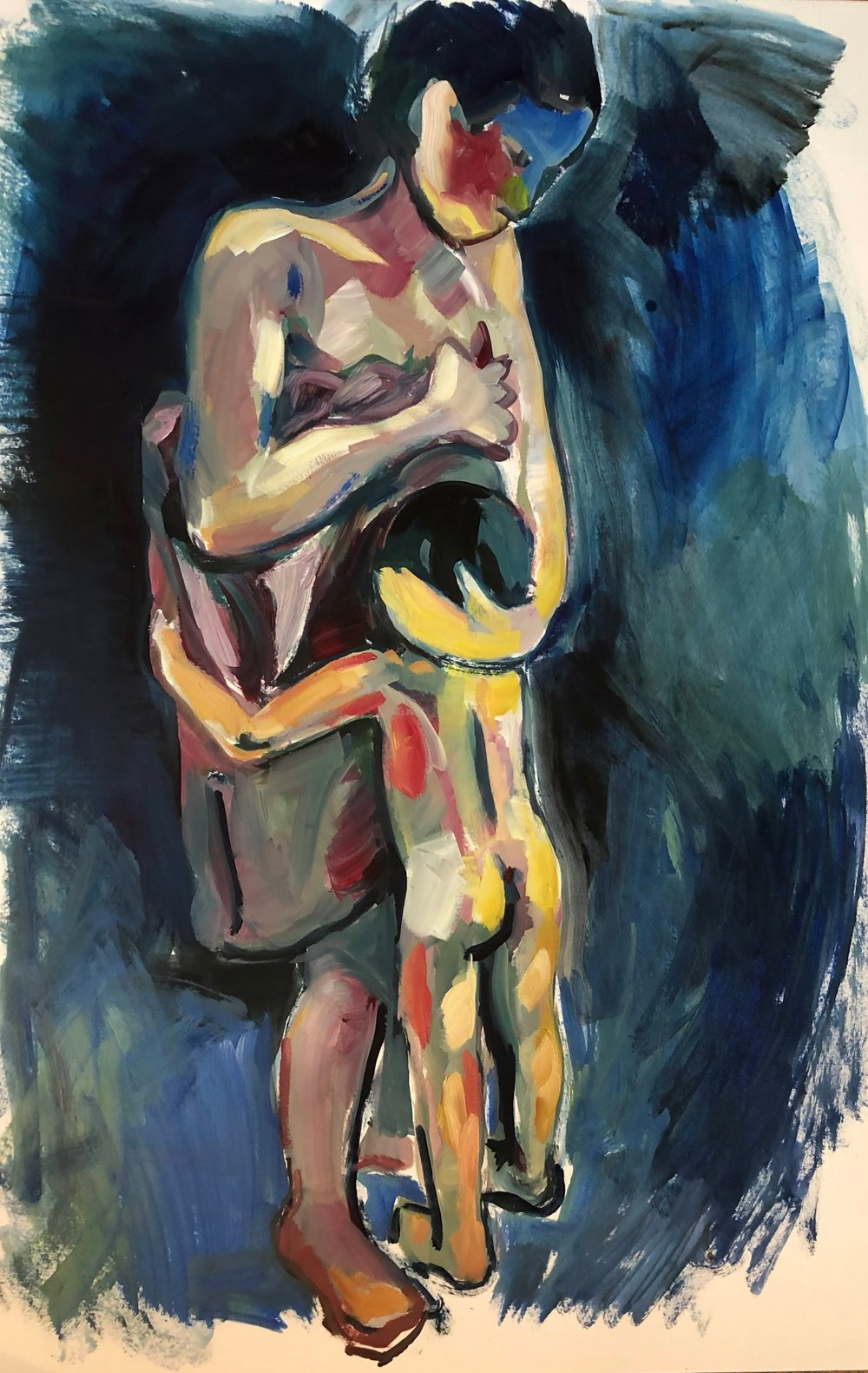 After the bath, oil on paper, framed, 72x 47cm £595