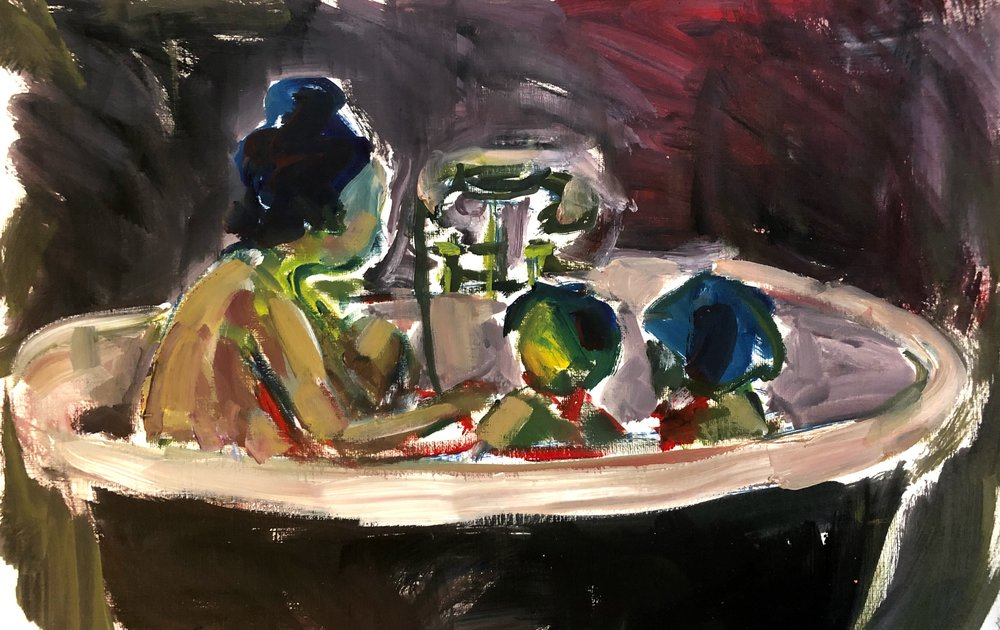 In the bath 5, oil on paper, 40x50cm unframed £260