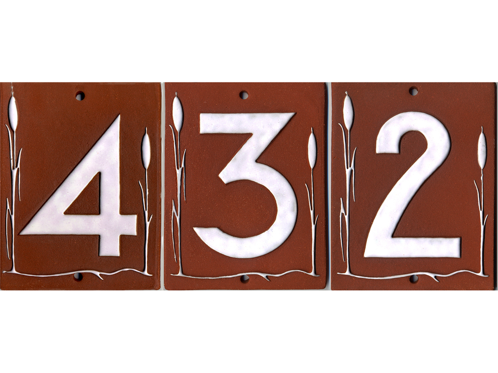 Cattail House Numbers