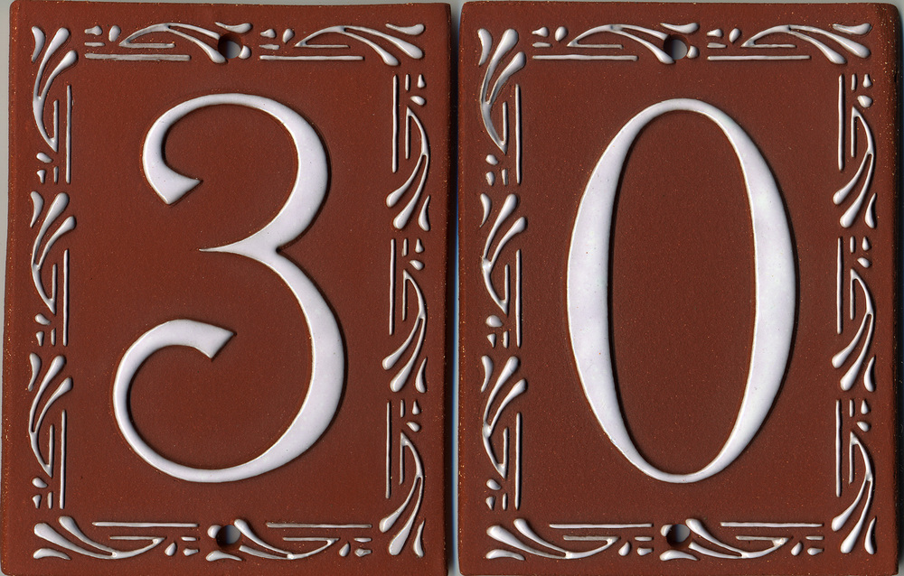 Vine Style Tile House Numbers