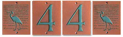 Traditional House Numbers with Accent tiles