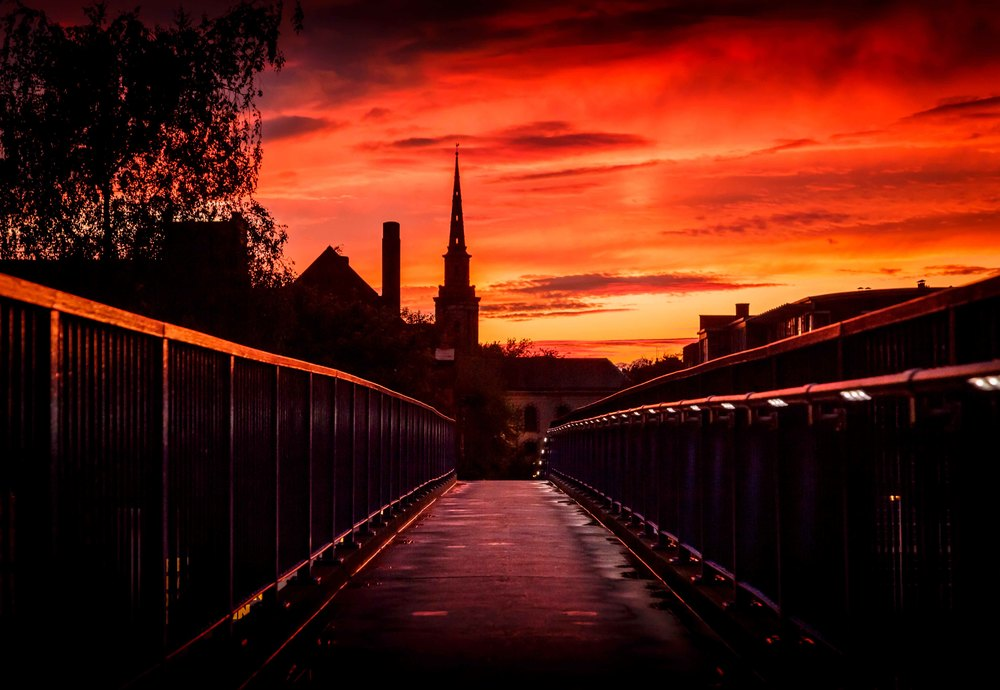 Burning Skies over Birmingham by Ross Jukes Photography