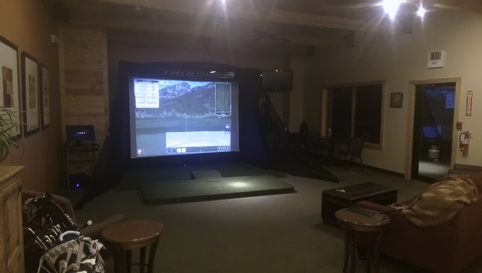 Contact the Pro Shop at 719-687-7587 to book a tee time on the indoor simulator.