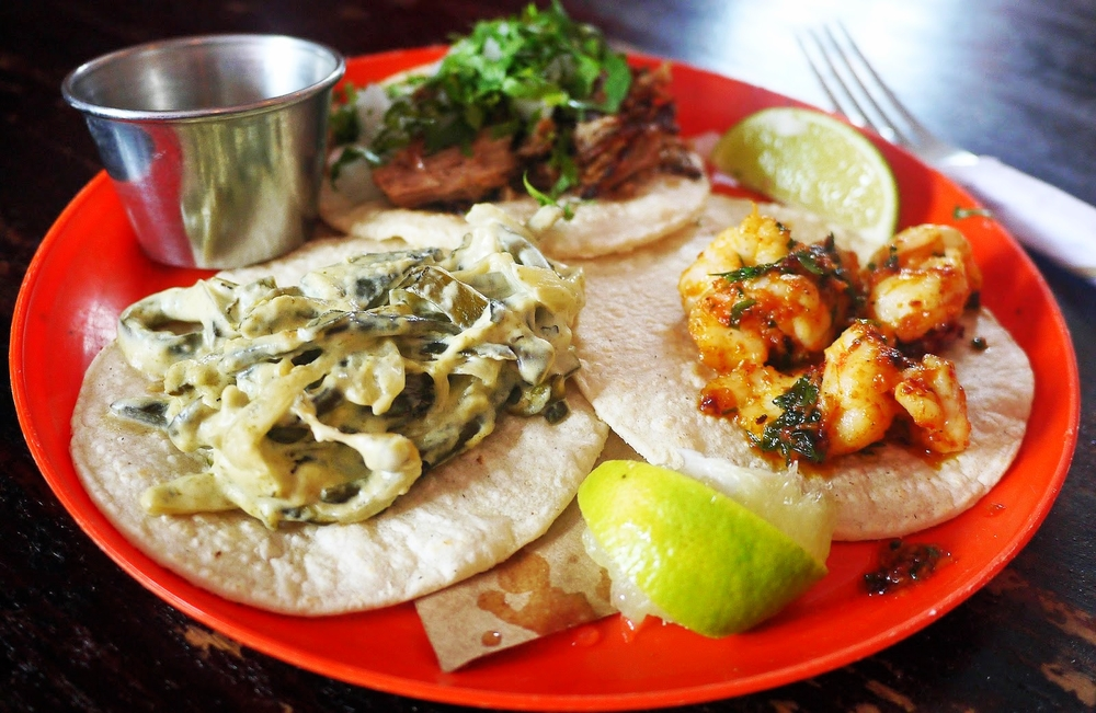 Rajas y Ongos // Chipotle Shrimp