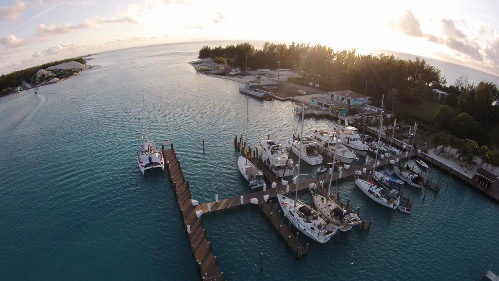 Bueller at dock at Browns Marina in Bimini (third boat over)