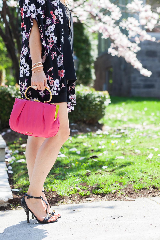 pink miu miu bag floral kimono fashion blog mademoiselle jules mlle