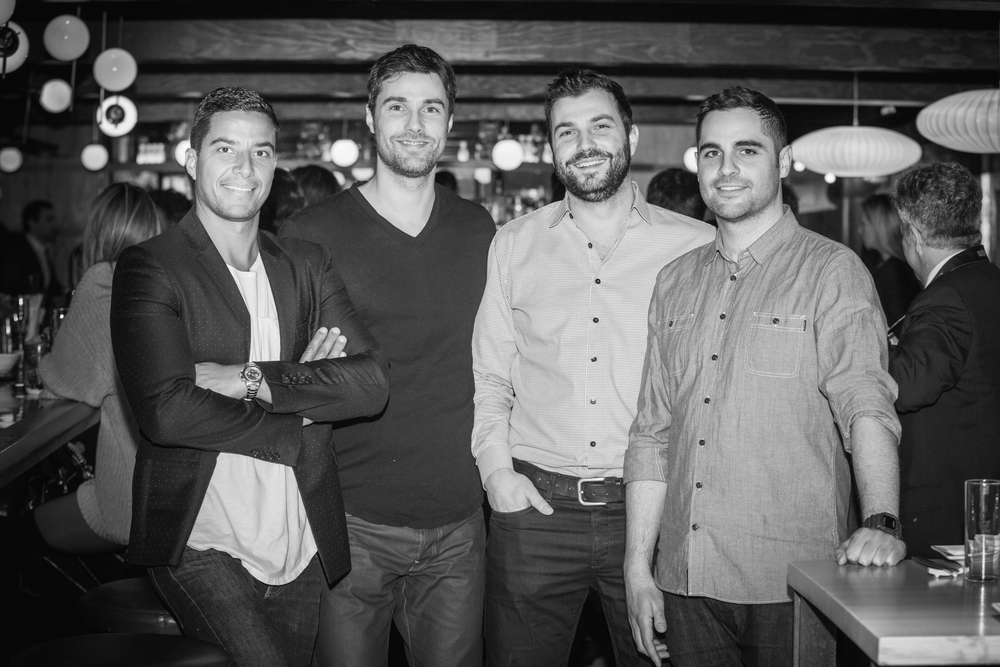 The owners of Flyjin: Marco Benattar, Alex Besnard, Nic Urli and Alex Brosseau