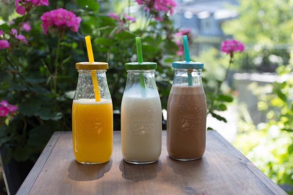 breakfast orange juice, chocolate milk, milk blog mademoiselle jules food canada montreal