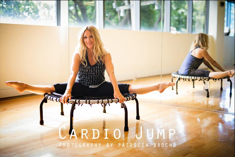 cardio jump class trampoline at victoria park gym westmount with mademoiselle jules mlle
