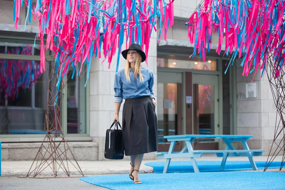 mademoiselle jules fashion Canadian blogger wearing Ben & Boule trading menswear