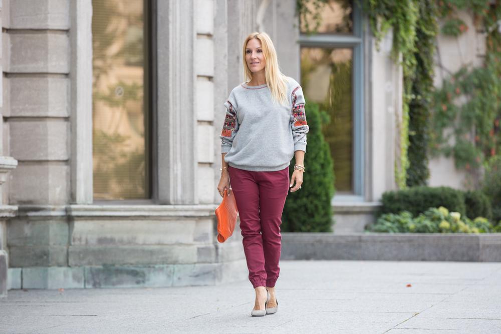 mademoiselle jules wearing ben & boule trading publish brand pants menswear