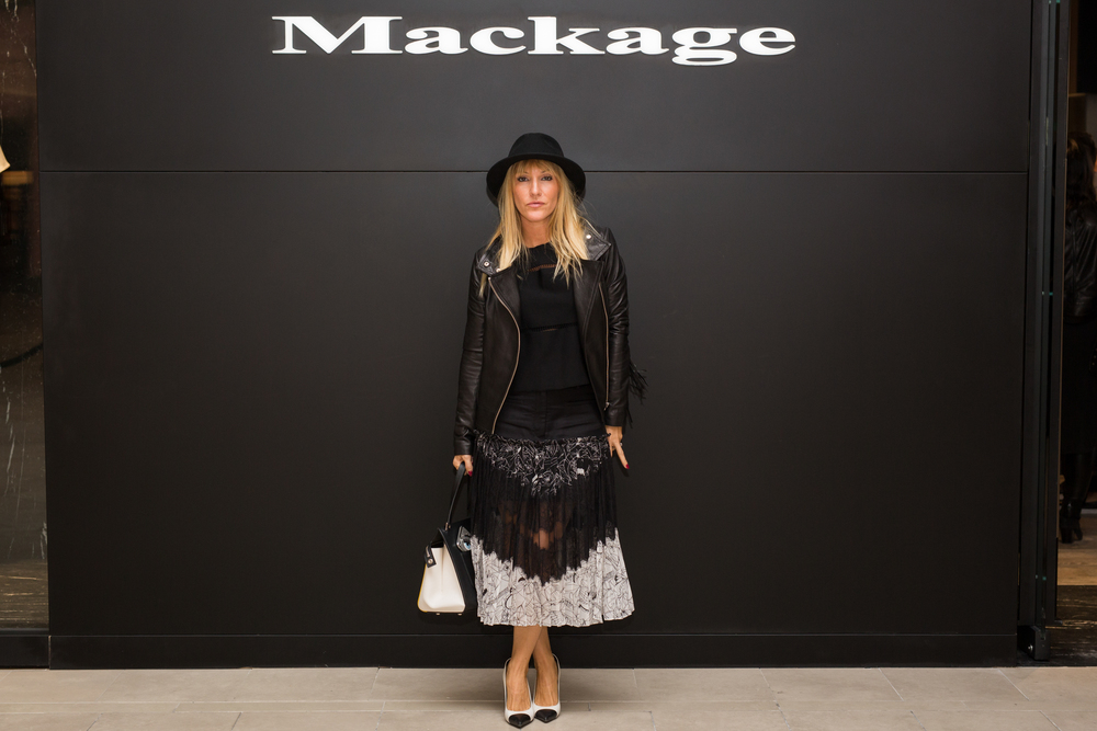 Mackage store opening in Canada with Mademoiselle jules fashion blogger