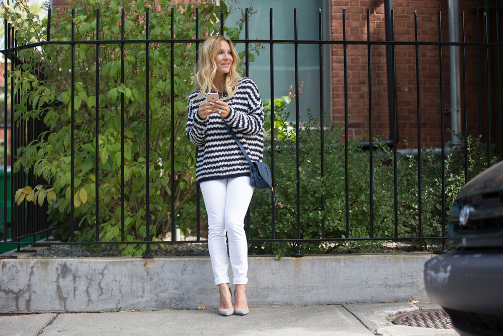 white jeans for fall fashion blogger mademoiselle jules
