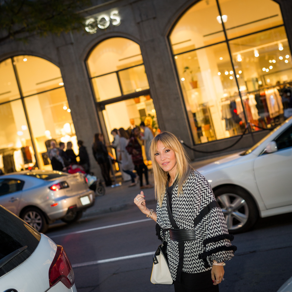 opening of COS in Montreal by blogger mademoiselle jules