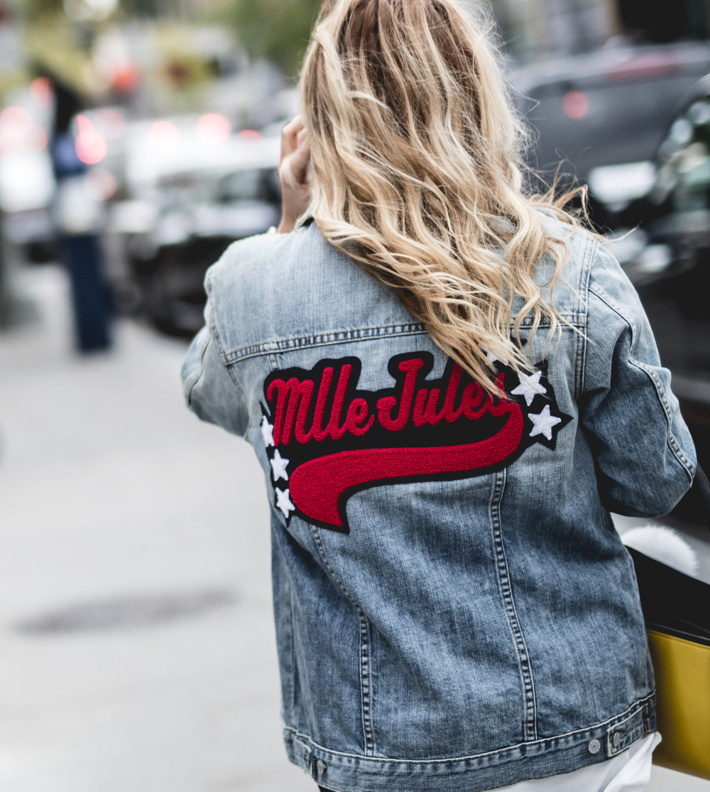 top trends fashion styling tips for fall winter by blogger mlle jules mademoiselle embroidered jacket denim jeans