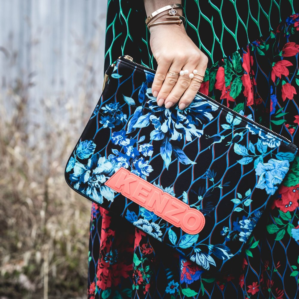 kenzo x HM fashion collaboration fall aw16 blogger mademoiselle jules mlle dare to wear color tend styling
