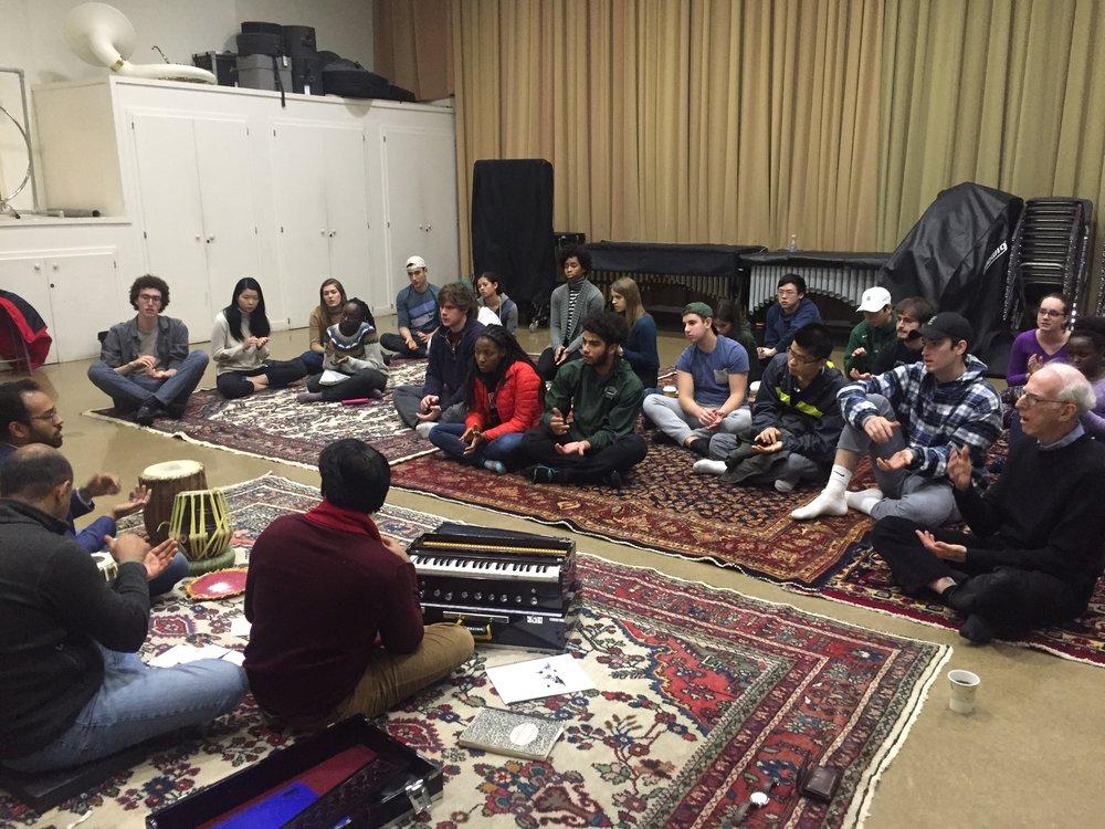 Qawwali in Dr. Levin's Class Dartmouth .JPG