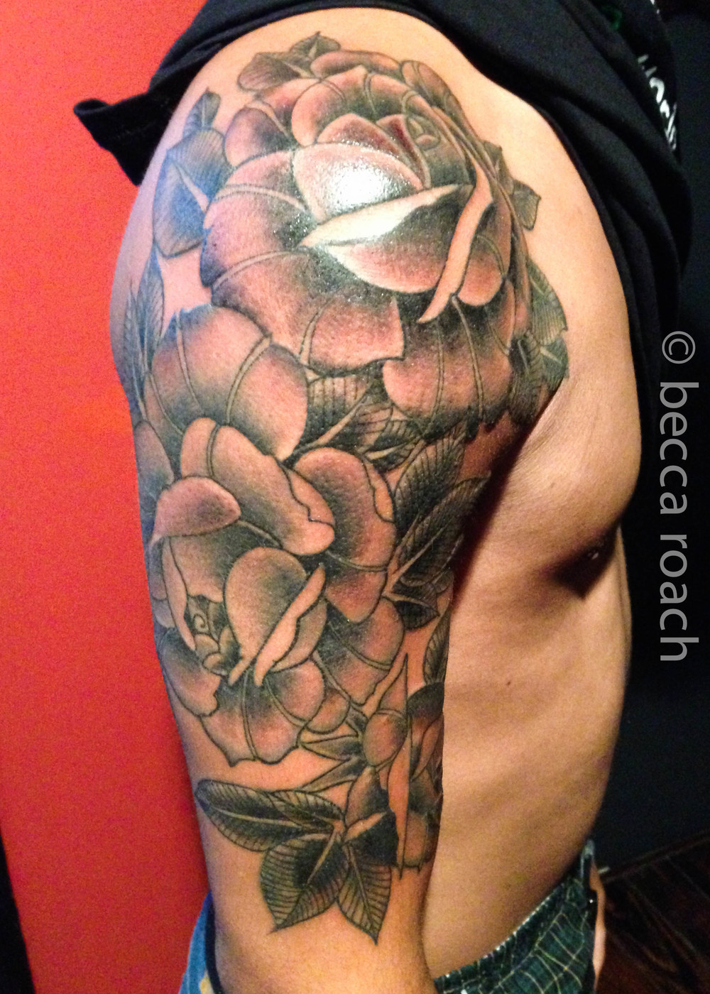 Becca Roach Black and Grey Rose Sleeve.jpg