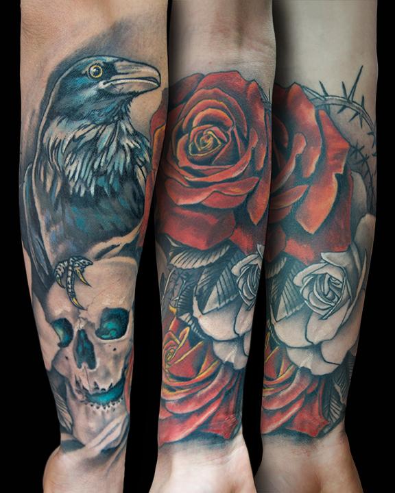 crow skull & roses.jpg