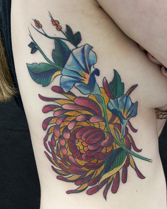 chrysanthemum and ipomea flower.jpg