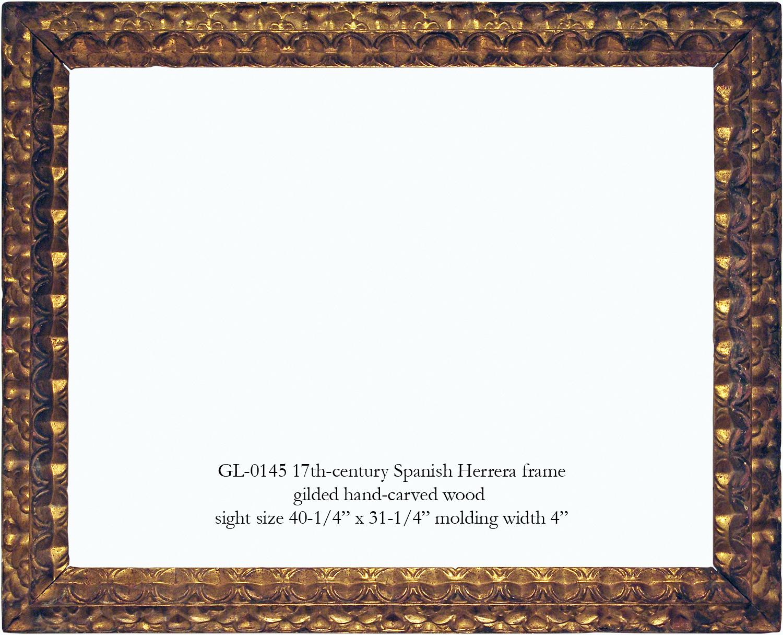 European frames gill lagodich gallery gl 0145 17th century spanish herrera frame jeuxipadfo Image collections