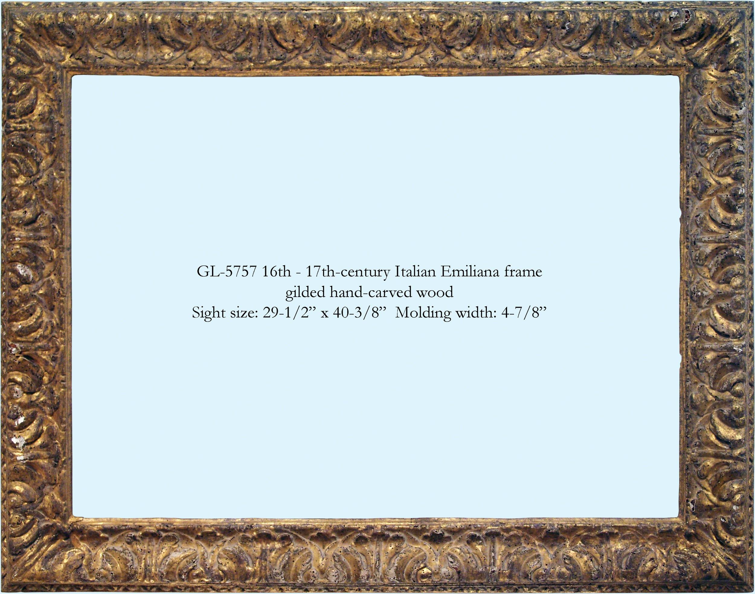 Italian frames — Gill & Lagodich Gallery