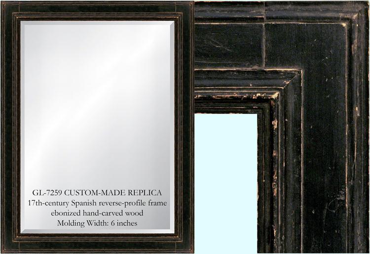 gl7259 17th century spanish mirror frame