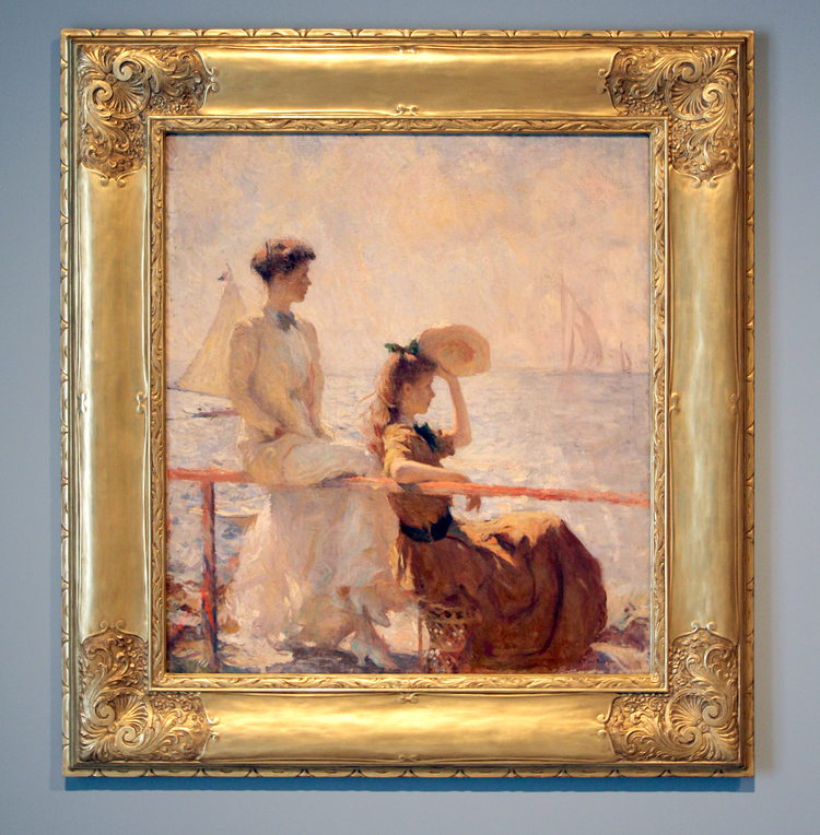 painting picture frames. FRANK WESTON BENSON  1862 1951 CUSTOM PAINTING FRAMES Gill Lagodich Gallery