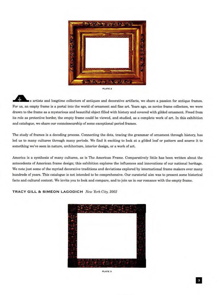 THE AMERICAN FRAME: From Origin to Originality — Gill & Lagodich Gallery