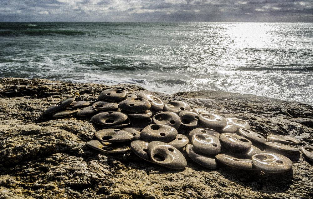 Jovana Djuric Montauk Reminders Jewelry Contact Bronze Pendants