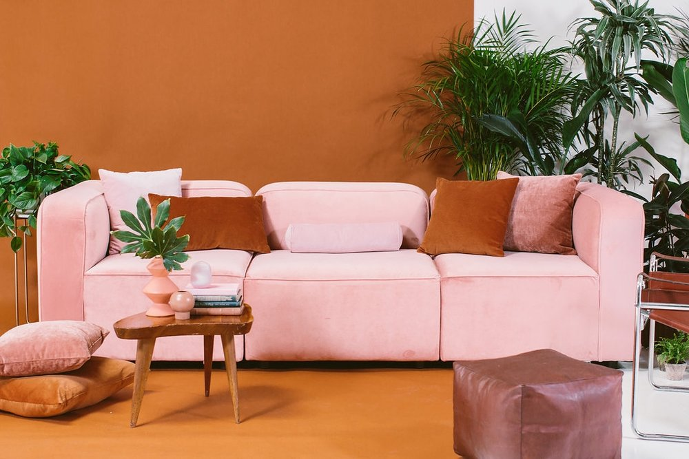 The Logan Modular Sectional in Royale Blush