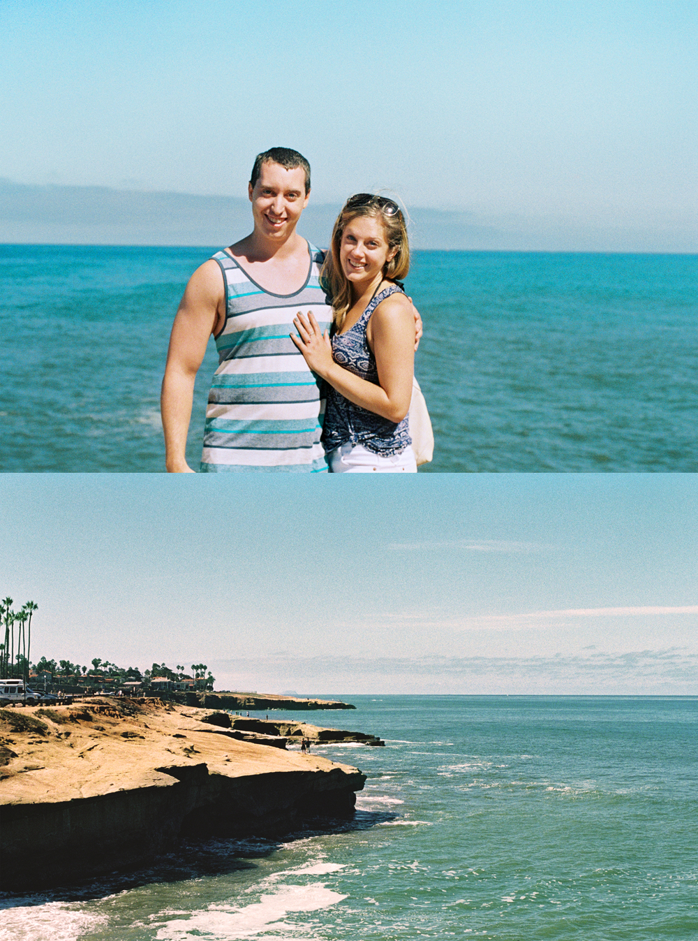 We're Engaged!/ Sunset Cliffs Natural Park, San Diego. 2014.