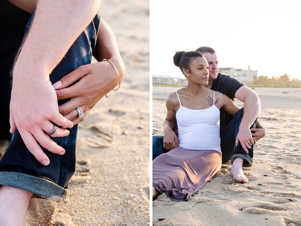 Josh+Ashlee | Beach Sunset Maternity | Avon New Jersey | Olivia Christina Photography 13.jpg